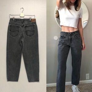 Vintage grey high rise dad jeans